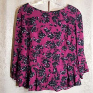 Banana Republic purple floral top size 6 NWT